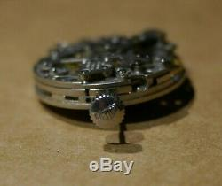 Vintage Heuer Mens Watch Caliber 11 Chrono Movement For Parts