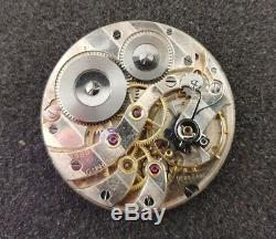 Vintage Longines Pocket Watch Movement For Parts Cal 18.89 Zabc
