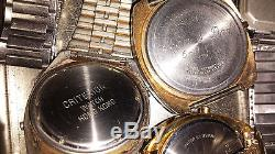 Vintage Lot Of 8 LCD Watches 4u2fix Or For Parts Seiko Sharp Bulova Longines