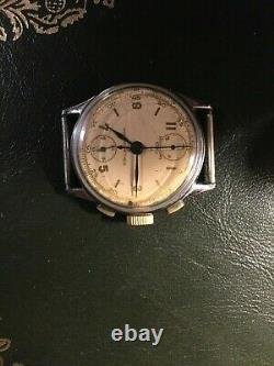 Vintage Mechanical Chronograph Suisse Watch for Parts Repair 32 mm Venus 170