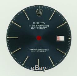 Vintage Men Rolex Datejust 36mm 16200 16220 16234 Royal Blue Stick Dial S/S #G5