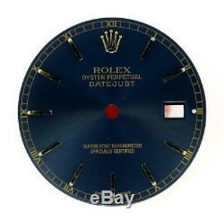 Vintage Men's Rolex 36mm 16203 16233 16238 Royal Blue Stick Dial 2/T #B6