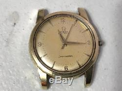 Vintage Mens Gold Omega Seamaster Automatic Watch Non-working for Repair Parts
