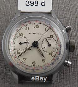 Vintage Nicolet Chronograph Wrist Watch, U-Fix or Parts Watch