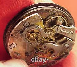 Vintage O F 45mm Lemania 15j Swiss Movement Chronograph Parts Repairs