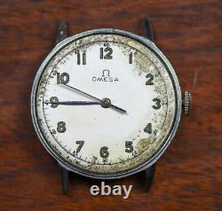 Vintage OMEGA Military 30T2SC 2848/3 Watch AS IS Running Project Needs Work