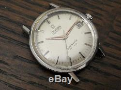 Vintage OMEGA Seamaster De Ville Automatic Steel Watch Runs for parts or repair