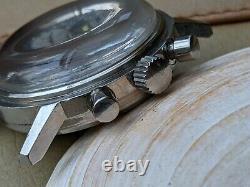 Vintage Ollech & Wajs Selectron Chronograph withDivers Case, Runs FOR PARTS/REPAIR