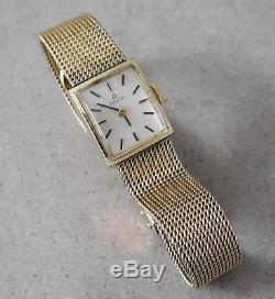 Vintage Omega 484 14k Gold Filled Watch 17 Jewels For Parts Repair #808l