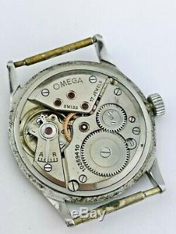 Vintage Omega Cal 28 Watch Ticking For Restoration Ref 2405-1 1940s (A91)