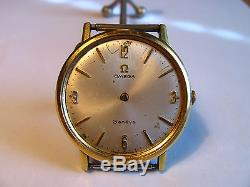 Vintage Omega Geneve 17j Swiss Wrist mens Watch 601 for Parts or Repair Working