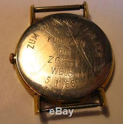 Vintage Omega Geneve 17j Swiss Wrist mens Watch 601 for Parts or Repair Working