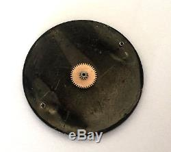 Vintage Omega Watch Black Dial Only Roman Numbers For Parts