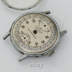 Vintage Pierce Chronograph Partial Movement Parts Watch Watchmakers Estate