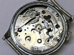 Vintage Pierce Single Button Chronograph Watch for Parts or Repair