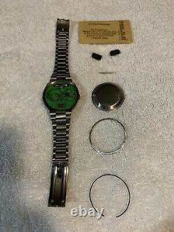 Vintage Pulsar P3 LED Watch with Band & Magnet (For parts Or repair)
