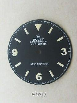 Vintage Rolex #5504 SUPER PRECISION EXPLORER Matte Black Refinished Dial