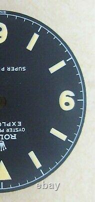 Vintage Rolex #5504 SUPER PRECISION EXPLORER Matte Black Refinished Dial