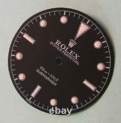 Vintage Rolex #5508 Submariner Matte Black Refinished Dial