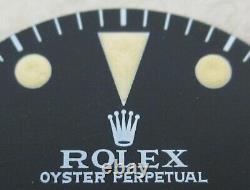 Vintage Rolex #5513 Submariner 660ft Matte Black Refinished Dial