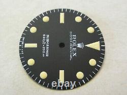 Vintage Rolex #5513 Submariner MAXI V Matte Black Repaired Dial