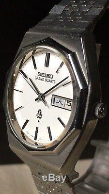 Vintage SEIKO Quartz Watch/ GRAND QUARTZ 4843-7000 SS 1975 For Parts