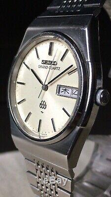 Vintage SEIKO Quartz Watch/ GRAND TWIN QUARTZ 9256-7000 SS 1979 For Parts