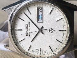 Vintage SEIKO Quartz Watch/ GRAND TWIN QUARTZ 9943-8030 SS 1978 For Parts