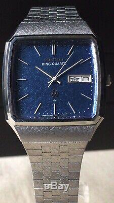 Vintage SEIKO Quartz Watch/ KING QUARTZ 5856-5000 SS 1977 For Parts