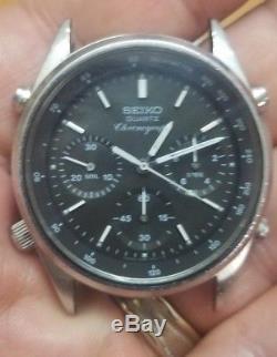 Vintage Seiko 7A28-702A James Bond View to KILL Analog Quartz Chrono Watch 80S