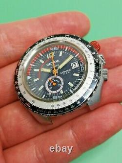 Vintage Sicura Chrono Divers Watch to Restore Great Condition, Ticking (AC98)