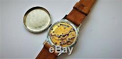 Vintage Smiths De Luxe Black Dial Mechanical Gents 17 Jewels Wrist Watch