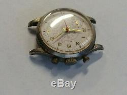 Vintage Swiss Made Cimier Telemetre Chronograph Sport Watch For Parts or Repair