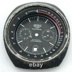 Vintage Swiss Watch Tag Heuer Montreal Automatic Parts Case Dial Bezel Men Retro
