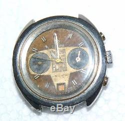 Vintage TITONI RACE KING VALJOUX 7734 CHRONOGRAPH WATCH NOT WORKING