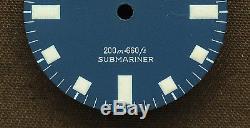 Vintage Tudor Prince Oysterdate SnowFlake Submariner 7016 Dial # T3-10