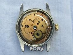 Vintage Tudor Small Rose Oyster Prince Watch 7909 Caliber 390 Not Working