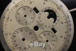 Vintage Universal Geneve Tri-Compax Dial