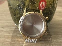 Vintage Wakmann Chronograph 2tone Case Men's Watch For Part