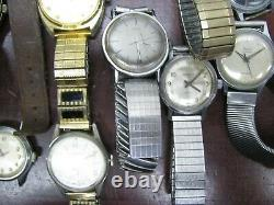Vintage Watches Lot Mechanical Automatic Swiss for Part Fix Sell 1940s 1960s d