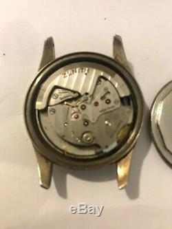 Vintage Zenith S58 Case and Movement sold as parts