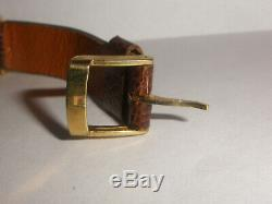 Vintage ladies Rolex precision 18k gold watch not working for parts or repairs