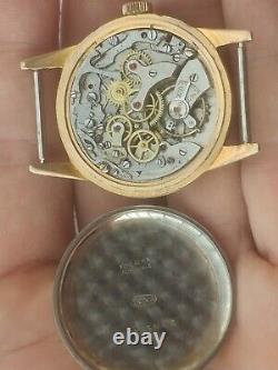 Vintage men's winding Chronograph watch Landeron runs for parts or repair