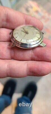 Vintage s/s Hamilton automatic rare fancy case watch is not working condition