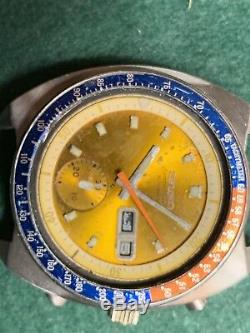 Vintage seiko pogue chronograph watch 6139-6002 For Parts Or Repair