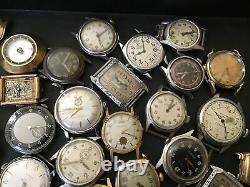 Vintage watch lot mens watches for parts or repair
