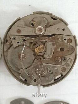 Vtg Parts Watch Seiko Chronographs 6139 6002 Pogue Case, Cover Back And Movement