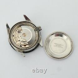 Vtg Waltham Automatic Mens Dive Watch Swiss Made Day Date Needs Repair 36.5mm