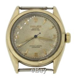 Vtg1963 Rolex Oyster Perpetual Bubbleback 14k Gold Watch Head 6084 Not Running