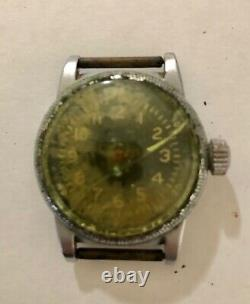 WW2 Vintage Waltham Type A-11 Military AF US Army Hacking Watch FOR PARTS AS IS